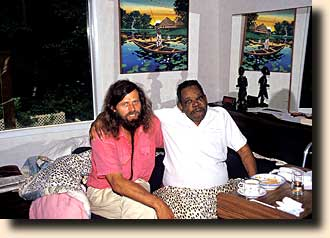 With my mentor, Dr. Charles King, on his death bed