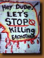"Graffiti in Harlem: ""Let's stop killing each other"""